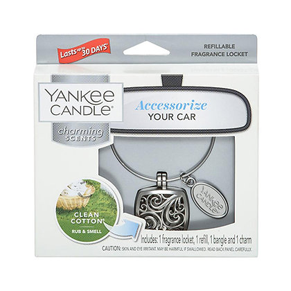 YANKEE CANDLE CLEAN COTTON SQUARE CHARMING SCENT STARTER KIT