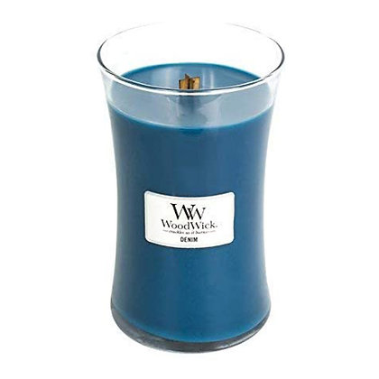 WOODWICK DENIM LARGE HOURGLASS CANDLE WITH PLUSWICK®