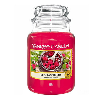 YANKEE CANDLE RED RASPBERRY LARGE JAR CANDLE