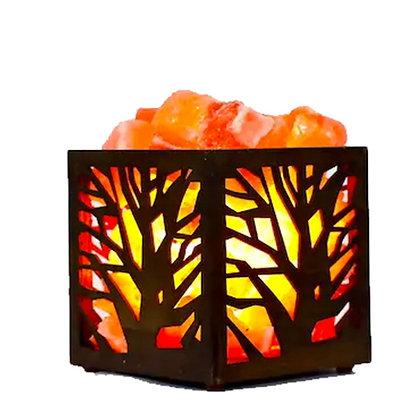 TREE WOODEN HIMALAYAN SALT LAMP BASKET