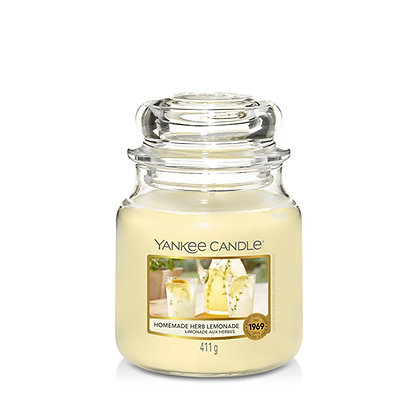 YANKEE CANDLE HOMEMADE HERB LEMONADE MEDIUM JAR CANDLE