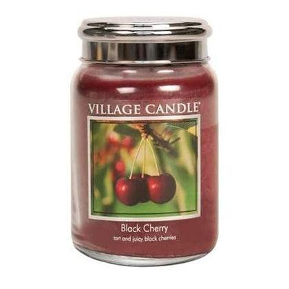 VILLAGE CANDLE BLACK CHERRY LARGE JAR CANDLE