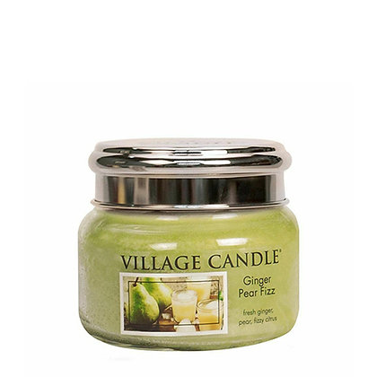 VILLAGE CANDLE GINGER PEAR FIZZ SMALL JAR CANDLE