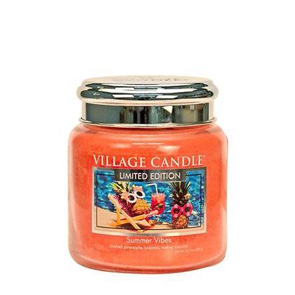 VILLAGE CANDLE SUMMER VIBES MEDIUM JAR CANDLE