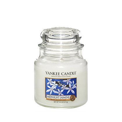 YANKEE CANDLE MIDNIGHT JASMINE MEDIUM JAR CANDLE