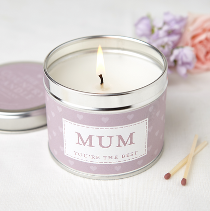 SENTIMENT MUM TIN CANDLE