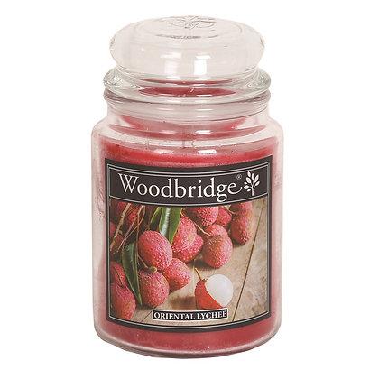 WOODBRIDGE ORIENTAL LYCHEE LARGE SCENTED CANDLE JAR