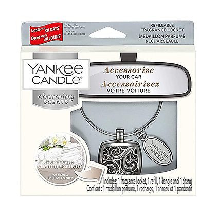 YANKEE CANDLE FLUFFY TOWELS SQUARE CHARMING SCENT STARTER KIT