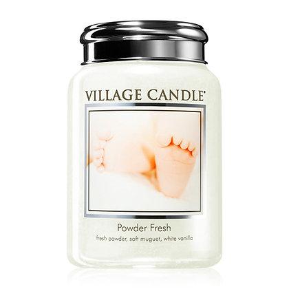 VILLAGE CANDLE POWDER FRESH LARGE JAR CANDLE