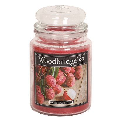 WOODBRIDGE ORIENTAL LYCHEE LARGE SCENTED CANDLE JAR
