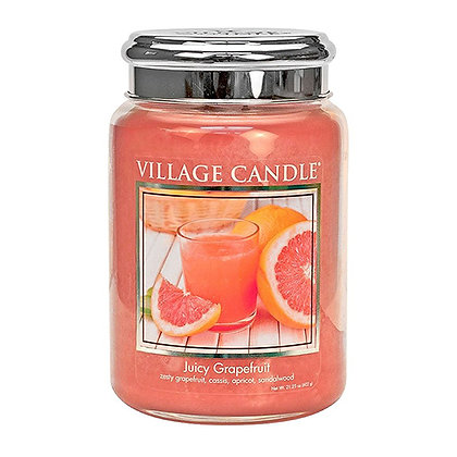 VILLAGE CANDLE JUICY GRAPEFRUIT LARGE JAR CANDLE