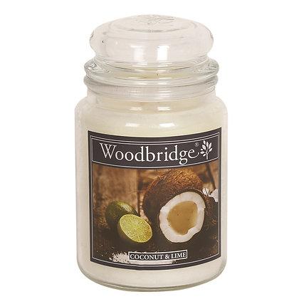 WOODBRIDGE COCONUT & LIME LARGE SCENTED CANDLE JAR