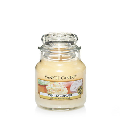 YANKEE CANDLE VANILLA CUPCAKE SMALL JAR CANDLE