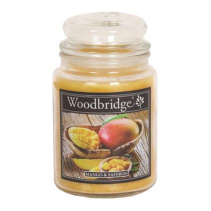 WOODBRIDGE MANGO & SAFFRON LARGE SCENTED CANDLE JAR