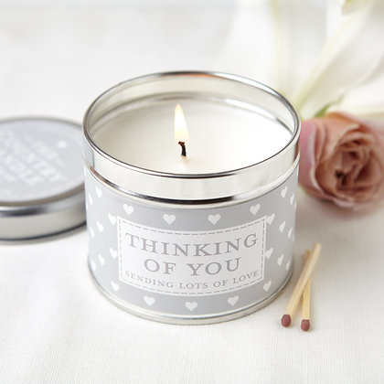 SENTIMENT THINKING OF YOU TIN CANDLE