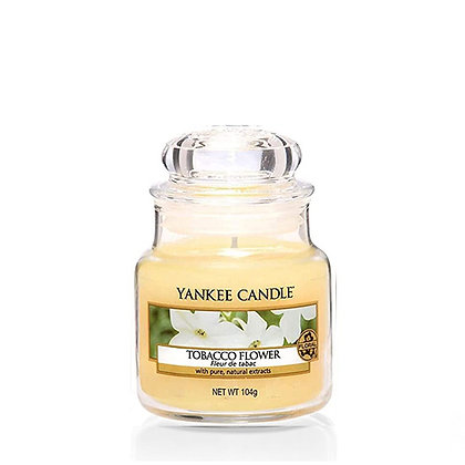 YANKEE CANDLE TOBACCO FLOWER SMALL JAR CANDLE