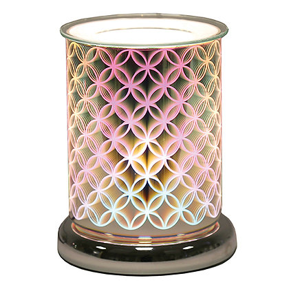 AROMA GEO CIRCLE CYLINDER 3D ELECTRIC WAX MELT BURNER