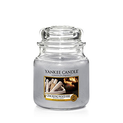 YANKEE CANDLE CRACKLING WOOD FIRE MEDIUM JAR CANDLE