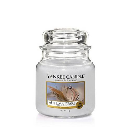 YANKEE CANDLE AUTUMN PEARL MEDIUM JAR CANDLE