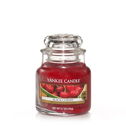 YANKEE CANDLE BLACK CHERRY SMALL JAR CANDLE