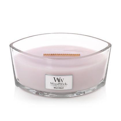 WOODWICK WILD VIOLET HEARTHWICK® ELLIPSE CANDLE