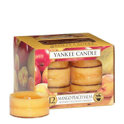 YANKEE CANDLE MANGO PEACH SALSA TEA LIGHT CANDLES