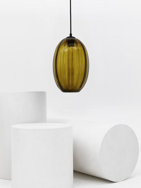 Large Oval Modernist Pendant