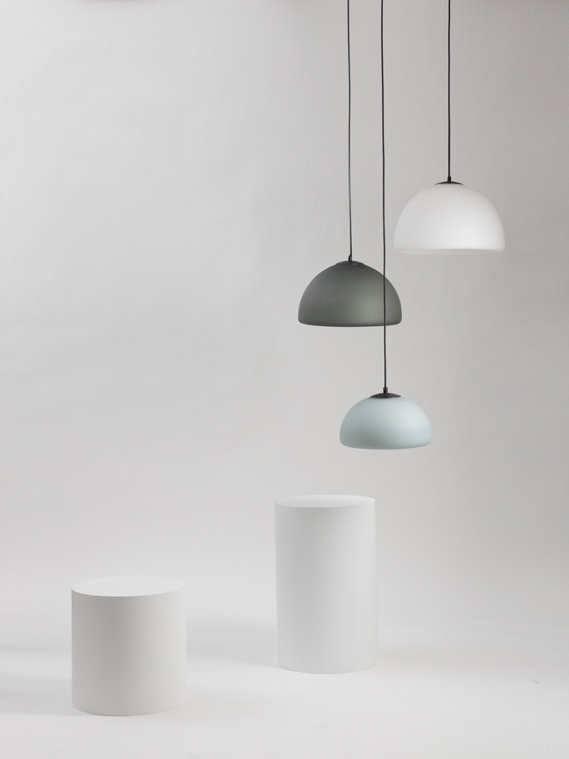 Cell Pendant Cluster - Opal Frosted Finishes