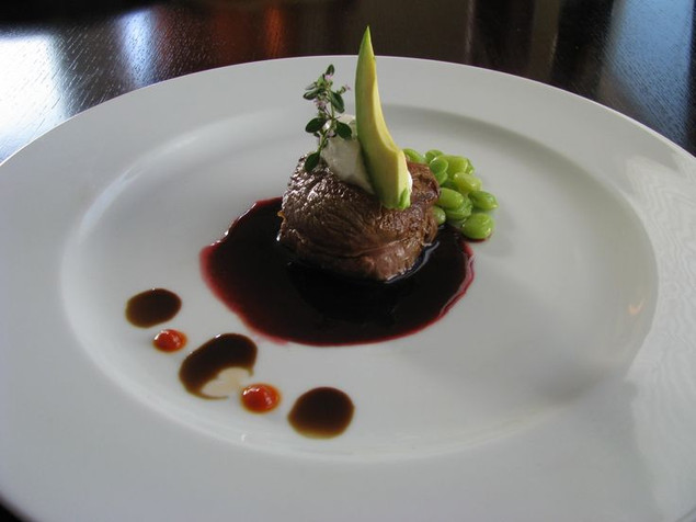 Lamb and Blackberry Sauce