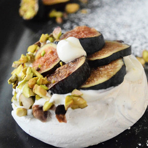 RECIPE: Pavlova with Almond Chantilly, Figs & Pistachios