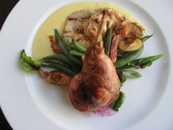 Pan-roasted Rabbit Leg