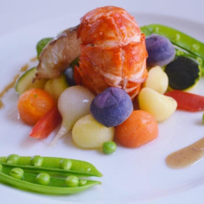 RECIPE: White Wine & Butter Poached Lobster w/Spring Vegetables