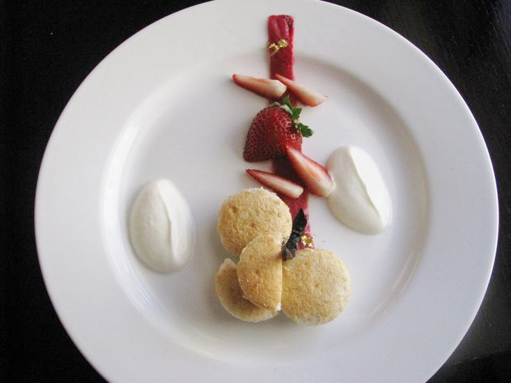 Rhubarb and Jasmine Chiffon Dessert