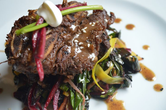 Short Rib and Swiss Chard