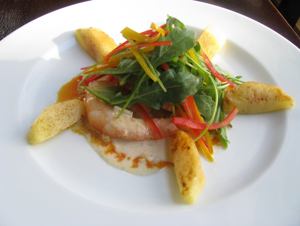 Rooibos-Poached Shrimp