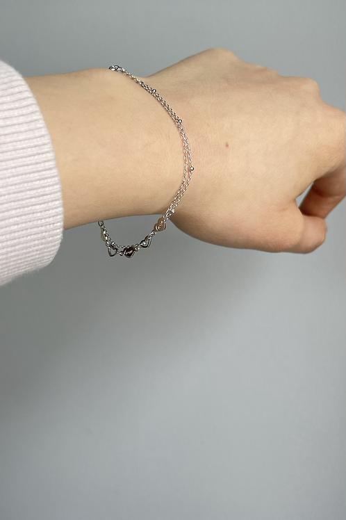 Double Chain Love Bracelet