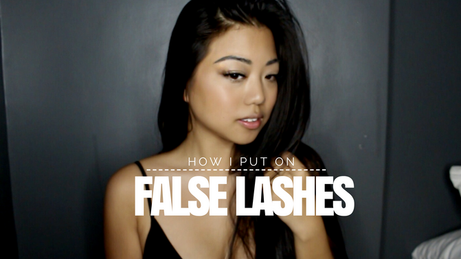 How I put on False Lashes!
