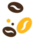 Coffee Beans in Brown & Yellow in LivOn! Home Page