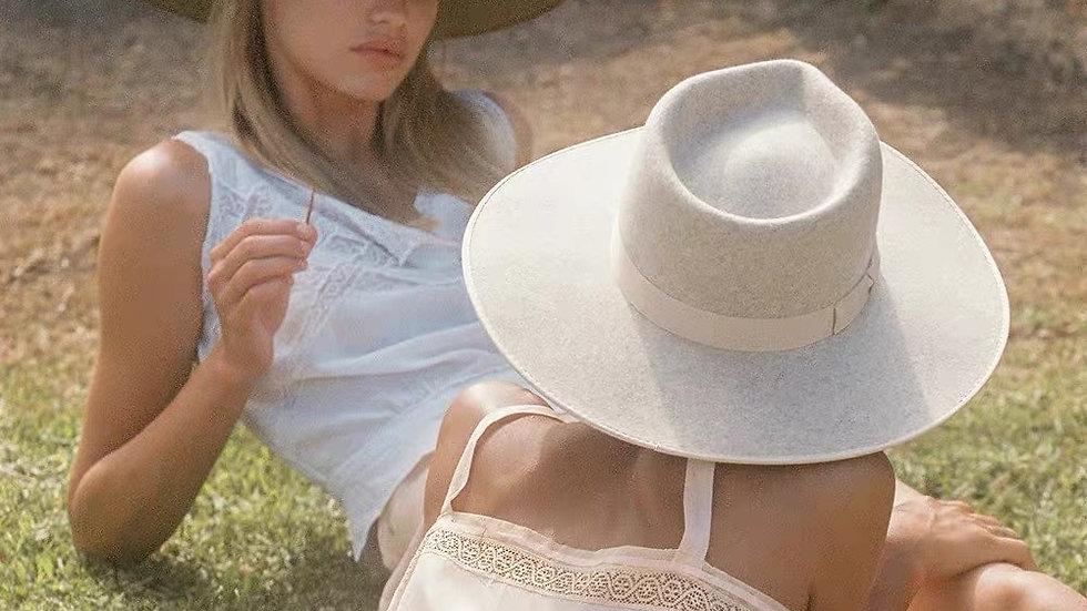 Hat Ladies Wide Brim Church Hats Derby White Holiday Beach Hat Wholesale