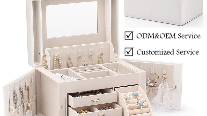 Container Storage Jewelry Organizer Box Leather Storage Box for Jewelry