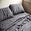 Thumbnail: Sheet Double Bed Flat Sheets Bed Linen Sheets Flax Linen Bedding 180x275cm Gray
