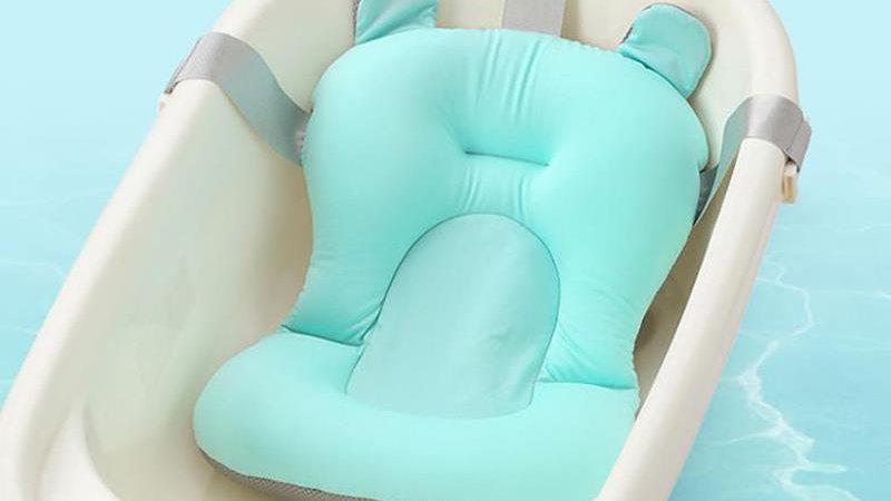 Baby Shower non slip Bathtub Mat NewBorn Safety Security Bath Seat Supporter