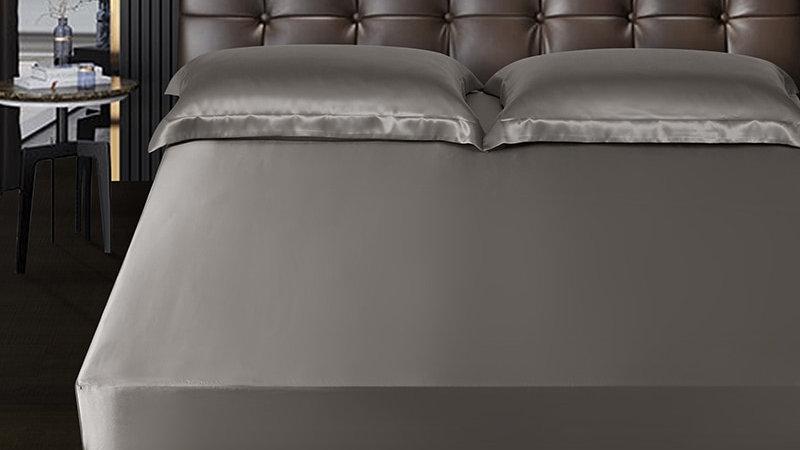 SILK 100%Pure Mulberry Silk Luxury Seamless Silk Bed Sheet Support Customization