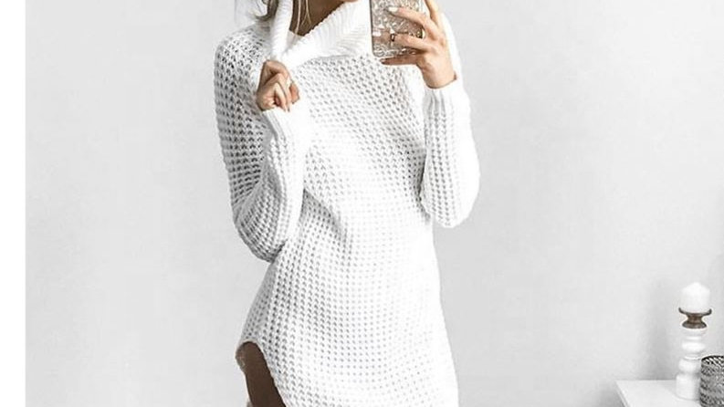 2020 New Arrival  Clothes Wholesale Blouse Fashion Fall Long High Collar Sweater