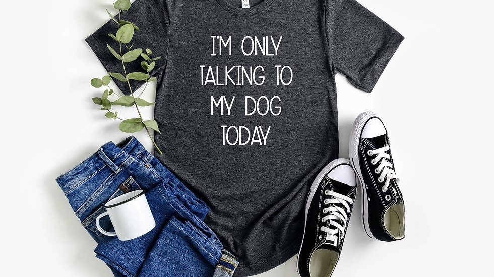 I'm Only TALKING TO MY DOG TODAY T SHIRT