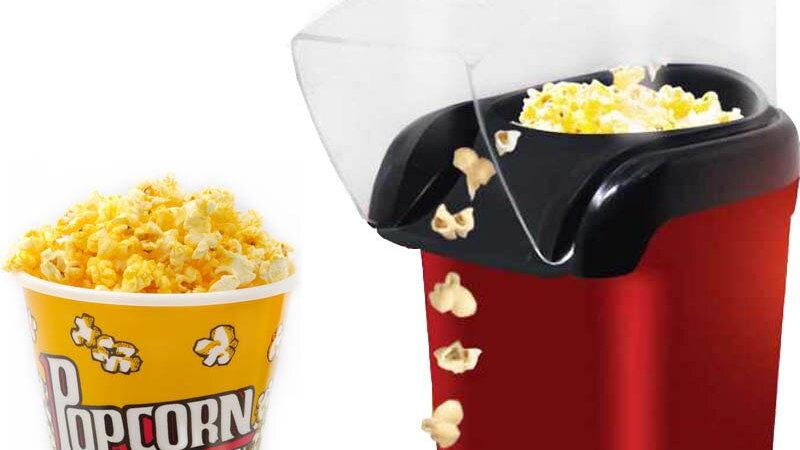 1200W MINI Air Oil-Free Popcorn Maker Corn Popper for Home Kitchen