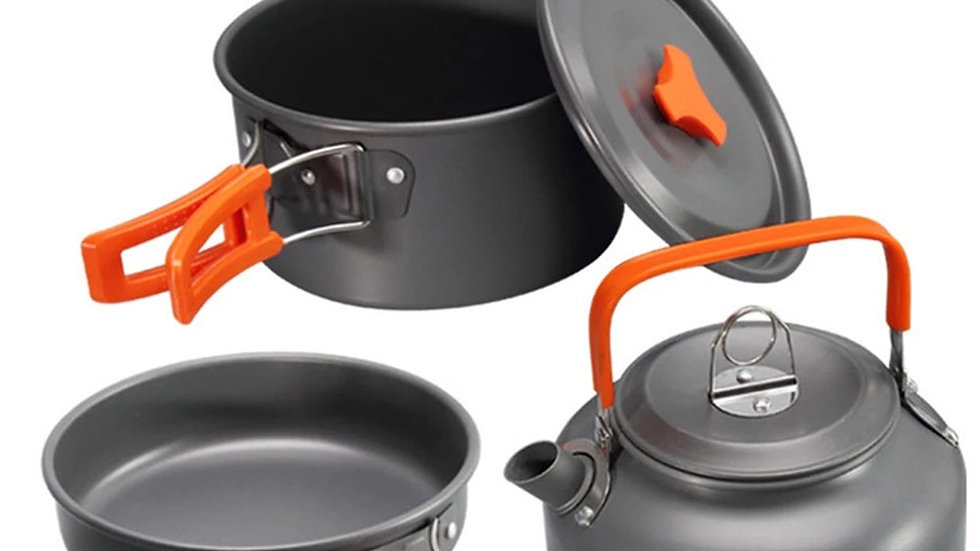 Camping Cookware Tableware Set Outdoor Cooking Set Travelling Hiking