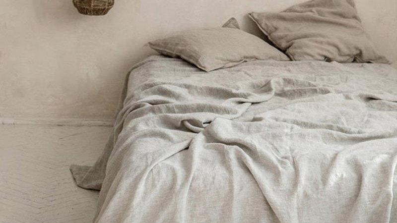 100% LINNEN Bed Sheet  Farmhouse Bedding (1 Flat Shee 2 Pillowcases)