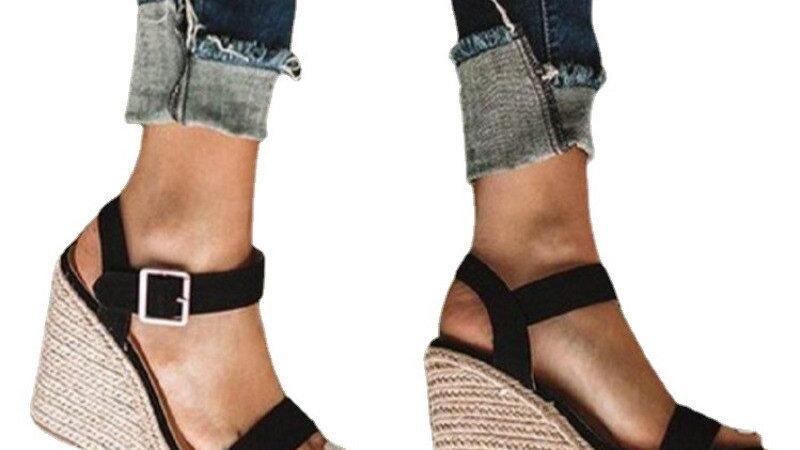 SUMMER High Heels With Platforms Sandales Peep Toe Sandals Female Plus Size 43