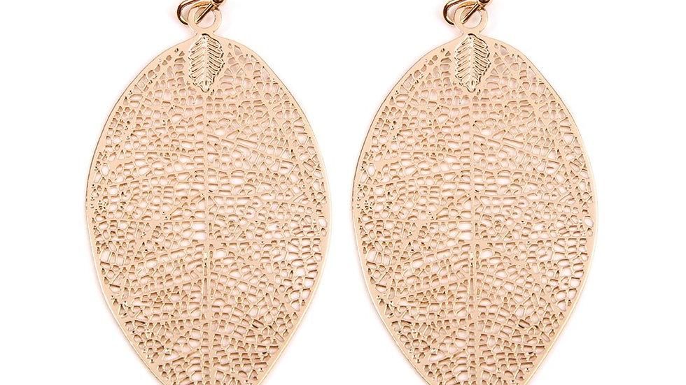E1806 - Leaf Filigree Earrings